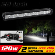 20 inch 120W LED Light Bar for Truck Tractor ATV LED Bar Offroad 4x4 LED Offroad Light Bar Offroad Fog light Save on 180W(China)