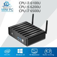 Mini Computer Intel Core i7 6500U i5 6200U i3 6100U Mini PC DDR4 RAM Windows 10 Barebone 4K HTPC HDMI Desktop PC