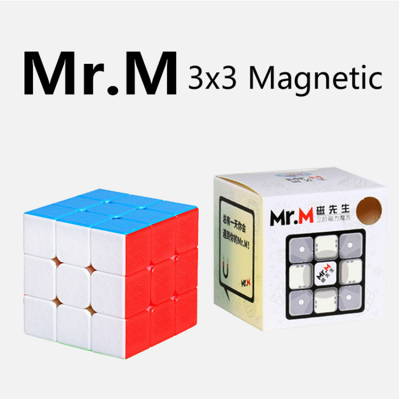 New Sheng Shou 3x3x3  Magnetic Mr.M Speed Cube Puzzle Educational Toys for Children 57cm Magic Cube Nice Toy Gift Stickerless
