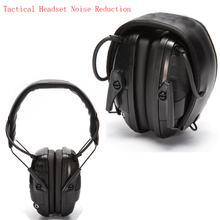 2017 Tactical Headset Noise Reduction Canceling Electronic Sound Pickup Single Side Switch Dual Channel Tactical Pickup Earmuffs