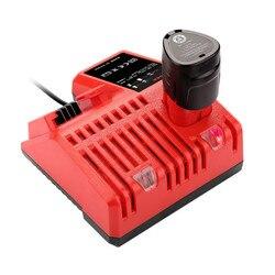 GTF 110 240V akumulator litowo jonowy ładowarka do Milwaukee M12 M18 48 11 1815 48 11  1828 48 11 2401 48 11 2402 Drop shipping w Ładowarki od Elektronika użytkowa na
