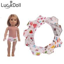 Les différentes culottes d'impression de bande dessinée de Luckdoll conviennent aux poupées américaines de 18 pouces, le meilleur cadeau des enfants.