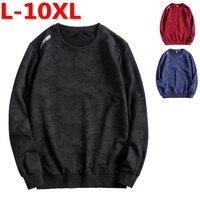 plus size fat size L 7xl 8xl 9xl 10xl men Hoodies loose camouflage large size fat guy o neck long sleeve male sweatshirt 156cm