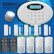 Бесплатная доставка! Семья гвардии M3GB APP сенсорная клавиатура беспроводной ультра-чистое bluetooth GSM главная охранной вторглась в сигнализация