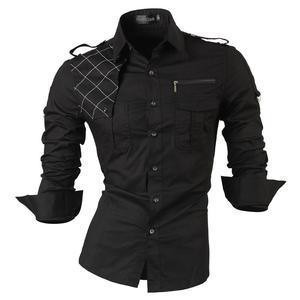 Image 3 - Jeansian erkek elbise gömlek Casual şık uzun kollu tasarımcı düğme aşağı Slim Fit 8397 beyaz