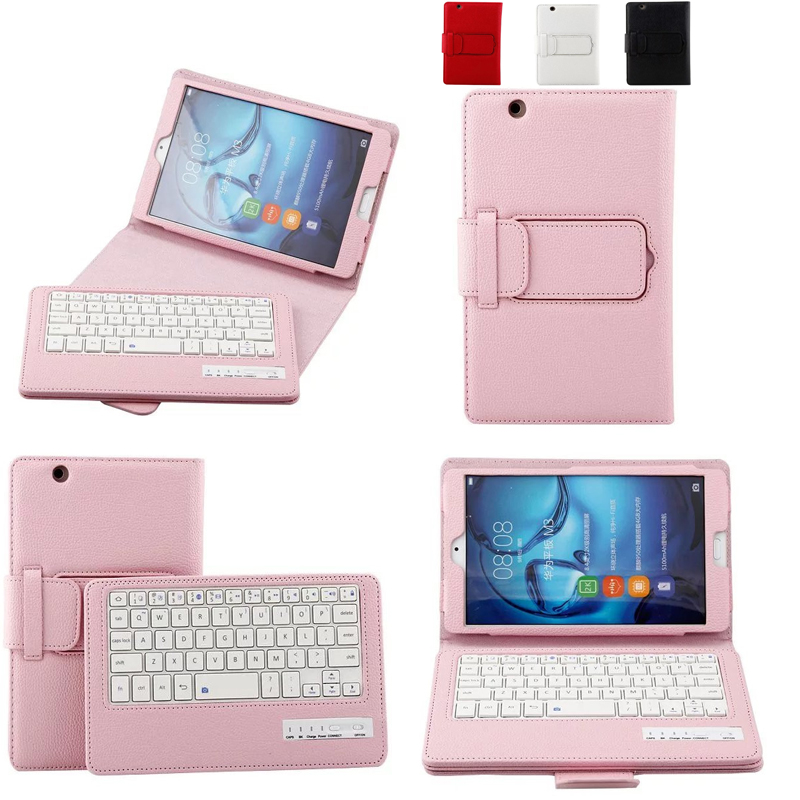 For Huawei MediaPad M3 BTV-W09/DL09 8.4 inch Tablet Bluetooth Keyboard Portfolio Folio PU Leather Case Cover ultra slim pu leather case w wireless bluetooth keyboard for huawei mediapad m2 10 0 tablet keyboard case smart folio cover