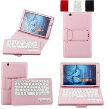 For Huawei MediaPad M3 BTV W09 DL09 8 4 inch Tablet Bluetooth Keyboard Portfolio Folio litchi