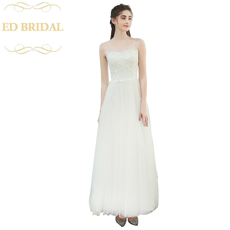 Simple Travel Wedding Dress The Bride Married White Lace Liques Sleeveless Tulle Lithe Long Party Gown In Dresses From Weddings Events