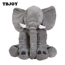 60cm Large Soft Plush Stuffed Elephant Dolls Kids Baby Sleeping Back Cushion Appease Calm Toys Decoration Festival BirthdayGift