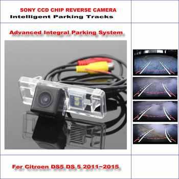 Intelligentized Rückfahrkamera Für Citroen DS5 DS 5 2011 ~ 2015 Rückansicht Back Up/580 Tv-linien Dynamische führung Tracks
