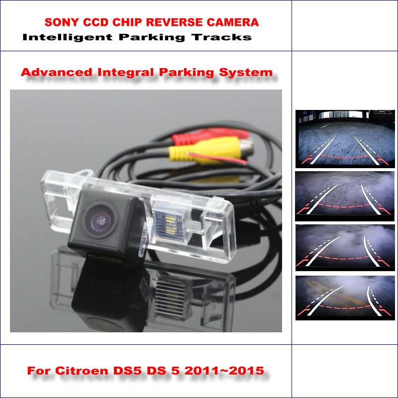 Intelligentized Reversing Camera For Citroen DS5 DS 5 2011~2015 Rear View Back Up / 580 TV Lines Dynamic Guidance Tracks