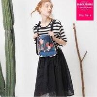 2018 summer new print tank dress japan style Playful Cotton Linen Girl's dress New Design women clothes gx572 drop shipping