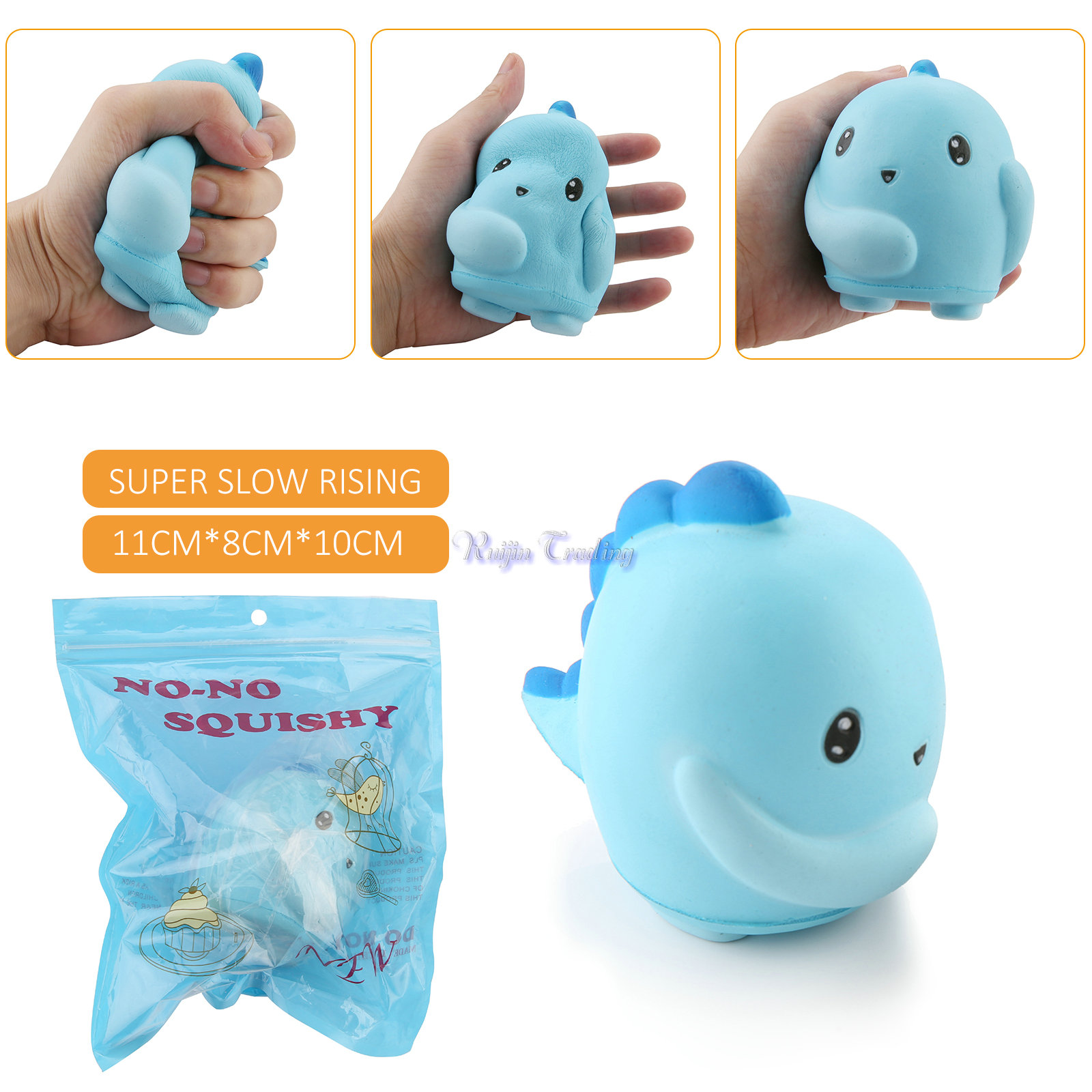 Squishy Squooshems Danny Dinosaur : 2017 Jumbo Kawaii Squishy Whale Super Slow Rising 10cm Dinosaur Cartoon Kids Toy Doll Bread Cake ...