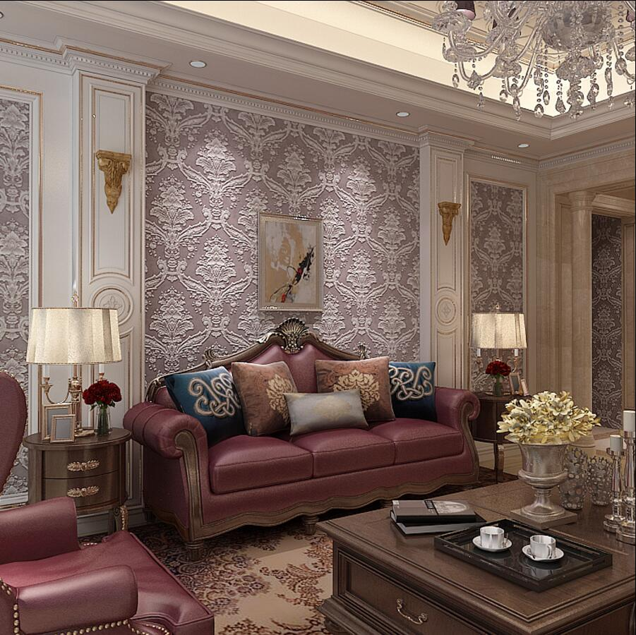 Large fashion wallpaper pattern tv background wall 3d relief wallpaper ab