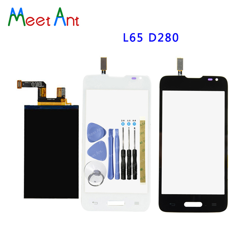 New High Quality 4.3 For LG L65 D280 D280N and L65 D285 Lcd Display With Touch Screen Digitizer Sensor