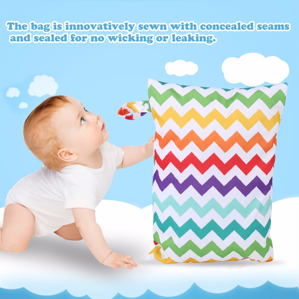 Waterproof Zip Wet Dry Bag for Baby Infant Cloth Diaper Nappy Pouch Reusable High Quality Portable Baby Bag Diaper Pouch