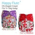 ¡ Feliz Navidad! feliz Flauta OS cubierta del pañal, impermeable y transpirable S M y L ajustable, ajuste 5-15 kg bebé, pañal cubre más populares