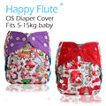 Merry Christmas! Happy Flute OS diaper cover, waterproof breathable S M& L adjustable,fit 5-15kg baby,most popular diaper covers