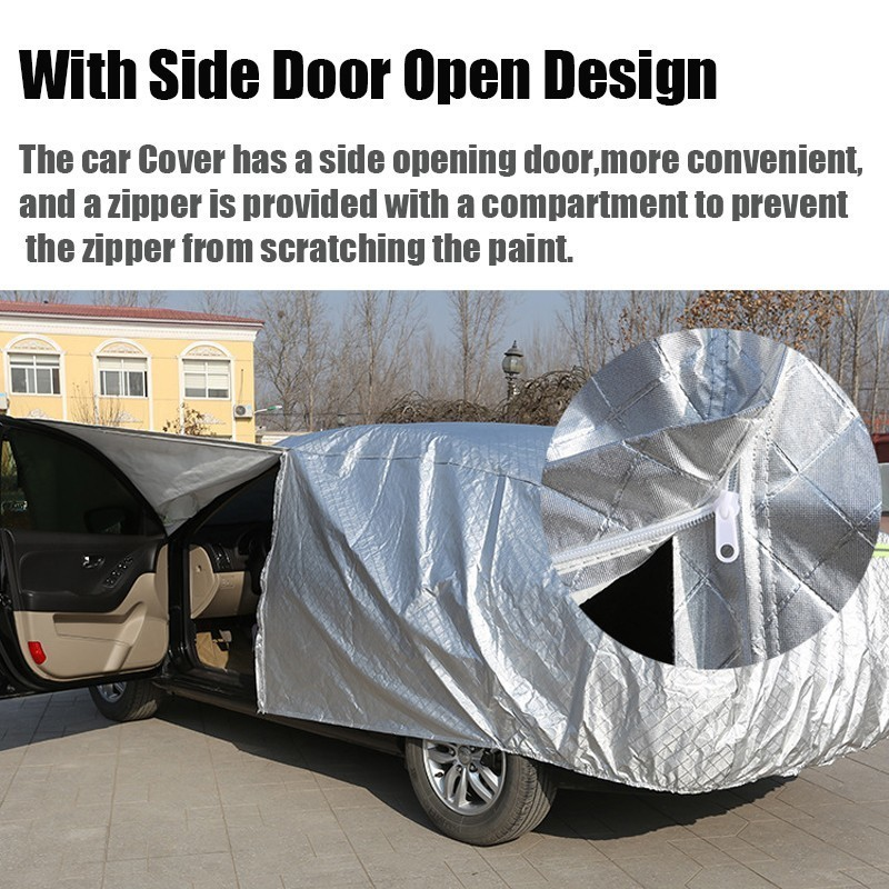 Image 2 - Car Cover Anti UV Sun Snow Rain Protection Scratch Resistant For Audi Q2L Q3 Q5 Q5L Q7 With Side Opening Zipper Anti theft-in Car Covers from Automobiles & Motorcycles