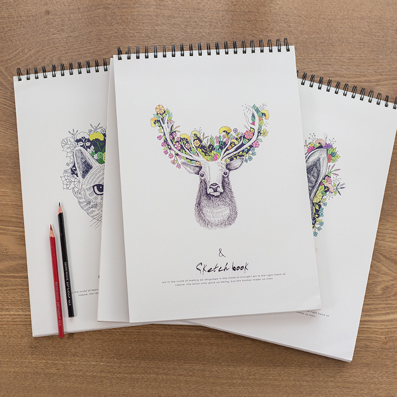 Simple Notebook Paper Notebook Blank Diary Sketchbook Art A4 Notepad Sketchbook Artiste Papier For Painting School Supplies
