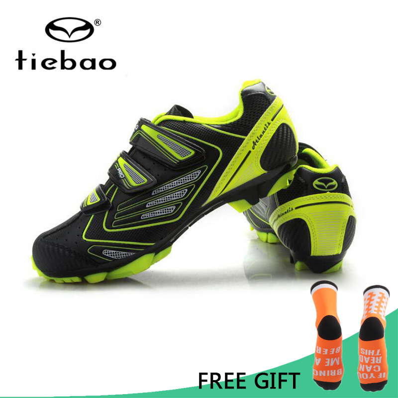 Tiebao MTB Cycling Shoes Men Self Locking Mountain Bike Shoes Racing Athletic Sport Breathable Bicycle Shoes