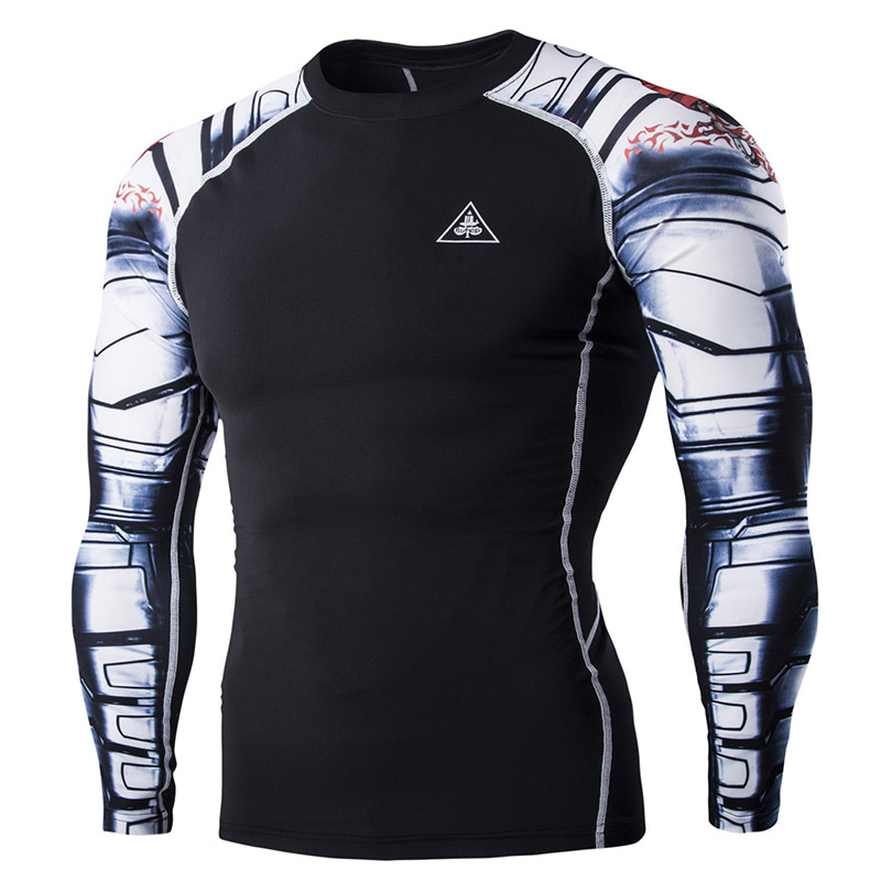 Online buy wholesale white compression from china white for Free gym t shirts