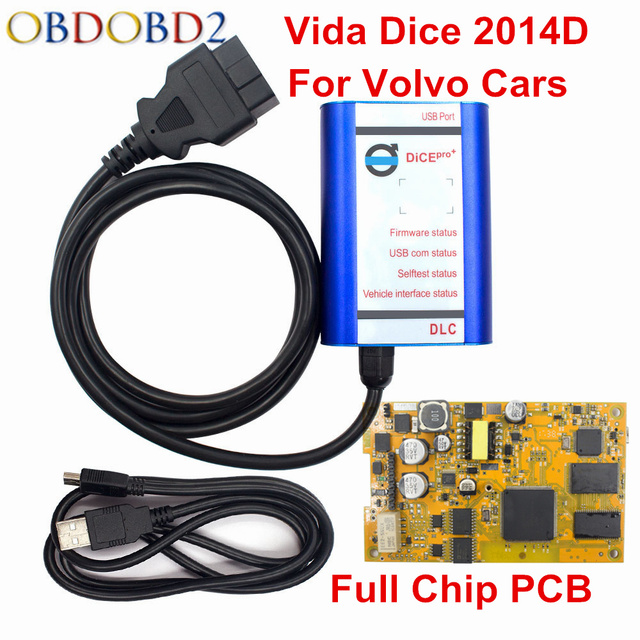 Flash Promo Best Price Vida Dice Pro Diagnostic Interface Software 2014D OBD2 Scanner Tool For Volvo Cars Till 2017 A++ Full Chip Golden PCB