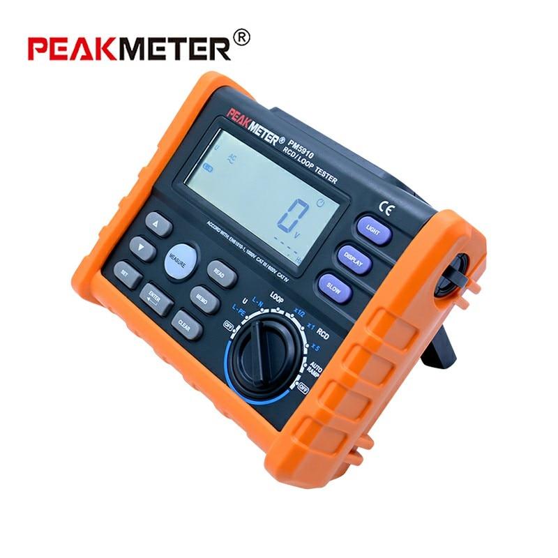 Image 3 - PEAKMETER PM5910 Digital resistance meter RCD loop resistance tester Multimeter Trip out Current/Time Test with USB InterfaceResistance Meters   -