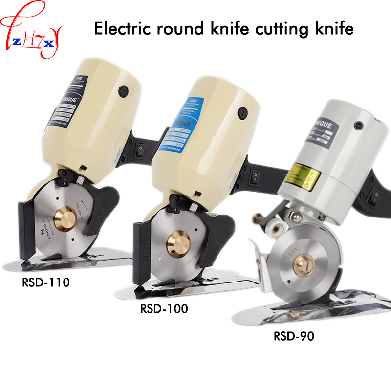 цена на Electric circular knife cutting machine hand-held garment clothes cutting machine electric round knife cutting scissors