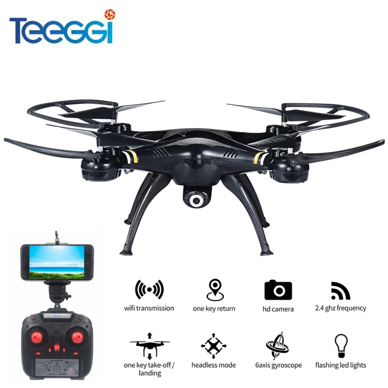 Teeggi M5W WiFi FPV RC Quadcopter With 720P HD Camera Altitude Hold One Key Take Off Drone Helicopter VS SYMA X5SW Dron JJRC H37 yizhan x8h jjrc x8h fpv rc quadcopter altitude hold drone with wifi camera 2 4g 6 axis rc helicopter dron vs jjrc h8c