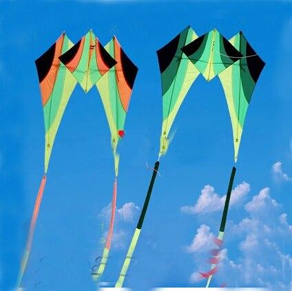 Livraison gratuite haute qualité marche ciel delta cerf-volant avec 15m queues poignée ligne weifang cerf-volant volant kiteboard jouets aquilone puissance