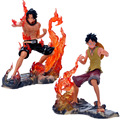 15cm One Piece Luffy fighting Fire Fist Ace Portgas D Ace Boxed PVC Action Figure Collection Model Toy Chrismas Gift
