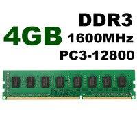 Nueva Llegada 4 GB PC3-12800 DDR3 Memoria RAM 1600 MHz de Memoria Compatible PC Computadora de Escritorio AMD CPU GPU APU