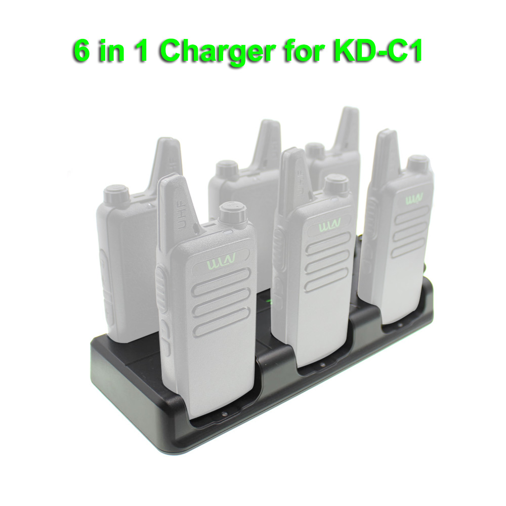 WLN Walkie Talkie 6 In 1 Charger Two Way Radio Kd-C1 Unit Charging For Kd-C1 Plus KD-C2 Six Way Charger Desk Charger