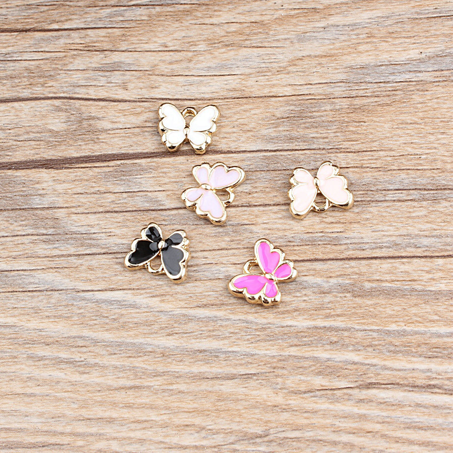 Jewelry Making Pendants Charms Handmade-Accessories Metal Butterfly Girls Alloy DIY 10pcs/Lot title=