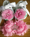 Lace Baby Girl Shoes Pearl Headbands Set,baby shoes ballerina,toddler Boots,Party Decoration Baby Slippers,infant baptismal shoe