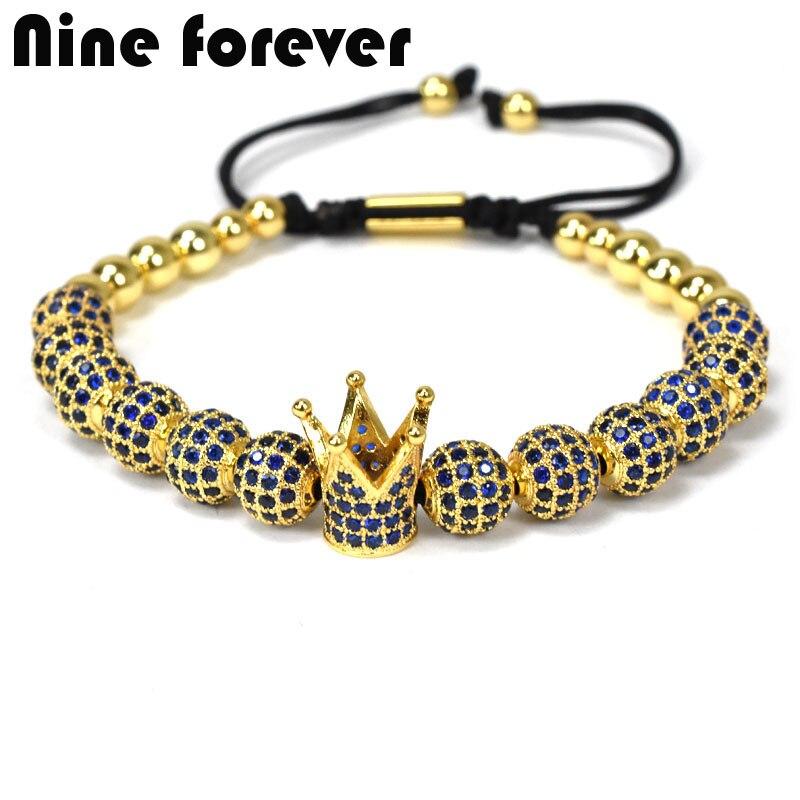 Neun für immer männer schmuck Armband Flechten Macrame perlen Armbänder für frauen pulseira masculina bileklik
