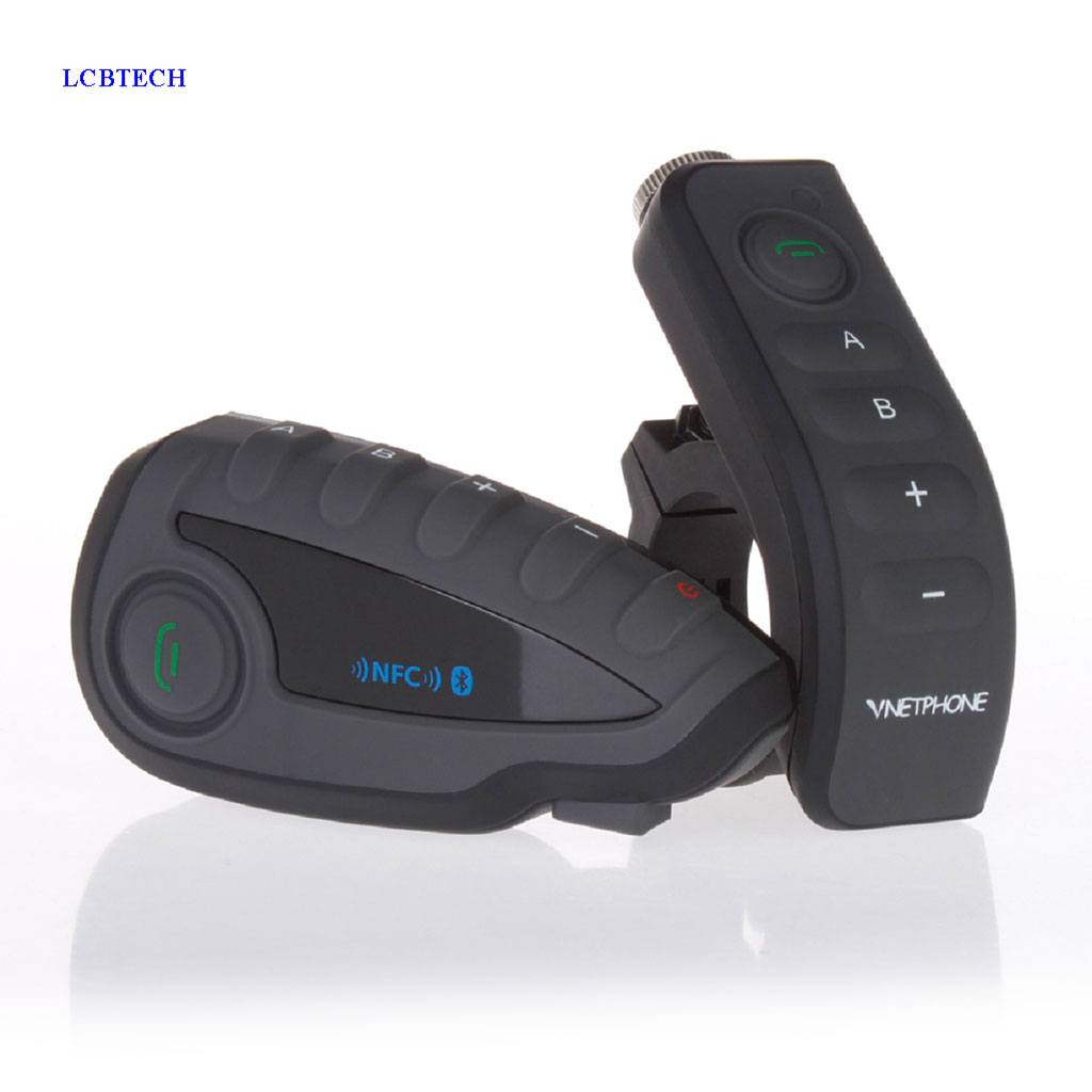 2019 Original EJEAS Walkie Talkie Bike Bluetooth Headset Support High end NFC Matching Handset With Motorcycle Remote Handle-in Walkie Talkie from Cellphones & Telecommunications