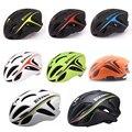 Bicicletas Ciclismo casco EPS + PC Material ultraligero mountain bike helmet hombres agujeros transpirable Cascos Camino Grande