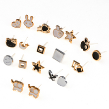 Allpro Women 36 Pairs /Lot Cute Acrylic Small Stud Earrings Sets Girl Fashion Jewelry Party Children's Day Gift