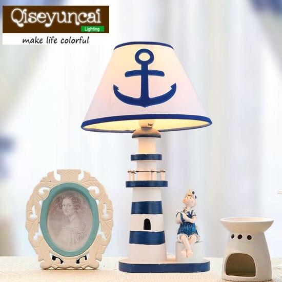 Phare méditerranéen, chambre d'enfants, lampe de bureau, décoration de bande dessinée, veilleuse, chambre de garçon, lampe de chevet, lumière dimmable