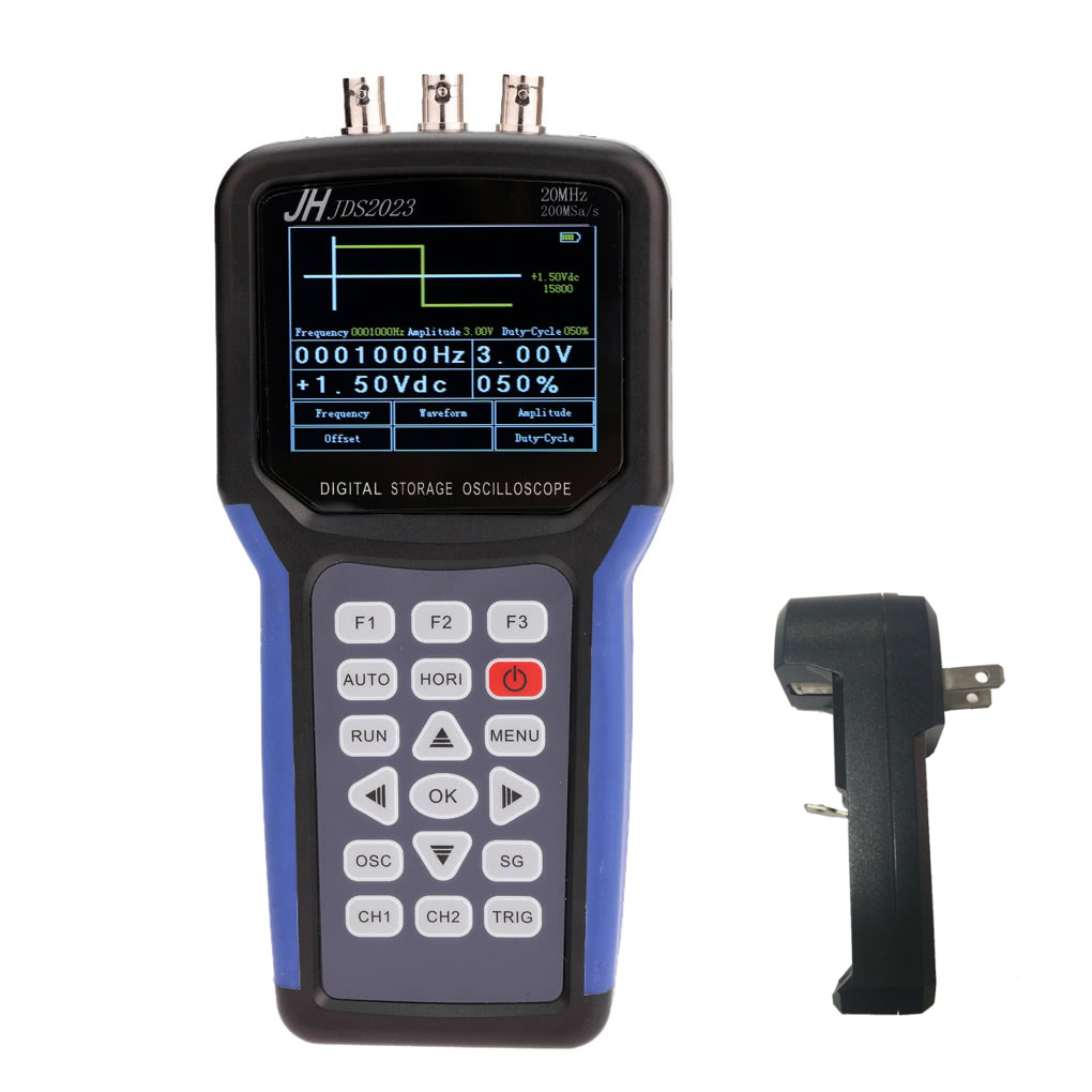 JDS2023 Multi-functional Digital Oscilloscope with Signal Generator Scope Meter 20MHz Bandwidth 200MSa/s 1CH TFT LCD Display jinhan jds2023 handheld oscilloscope 1 channels 20mhz oscilloscope jds2023 200msa s 16 bit true color in stock now