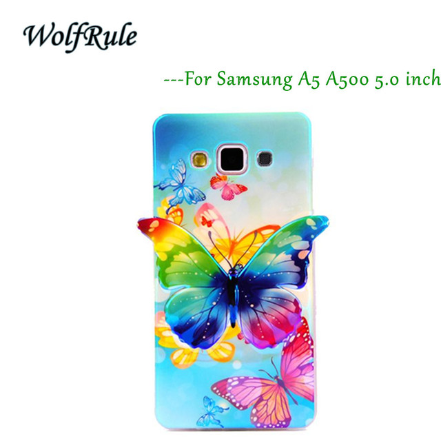 For Case Samsung Galaxy A5 Cover Women's Style 3D Butterfly Colorful Case For Samsung Galaxy A5 Cover For Samsung A5 2015 A500