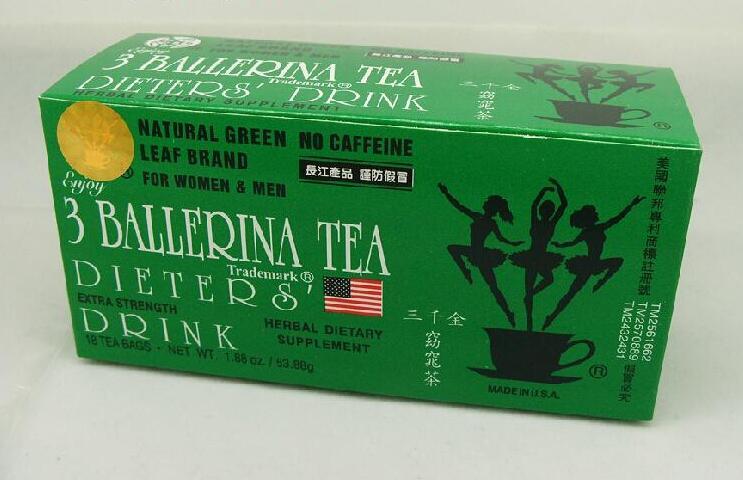 1box 3 ballerina tea fat remove quick slim weight loss s