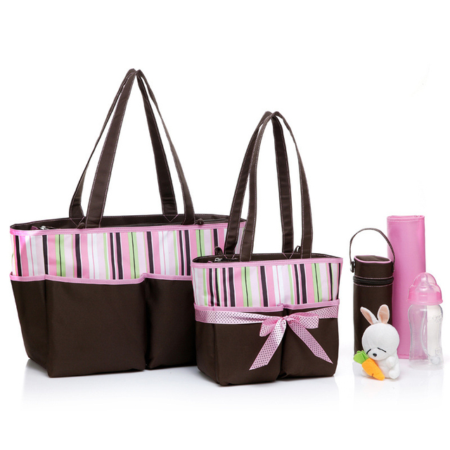 Colorland 5 Pieces/Sets Cute Mummy Bag Large Nappy Bags Maternity Changing Baby Diaper Bags Maternidade Waterproof Thermos Bag