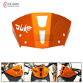 2016 nueva caliente de orange cnc de la motocicleta parabrisas parabrisas para ktm duke 125 200 390 bici de la suciedad del duque