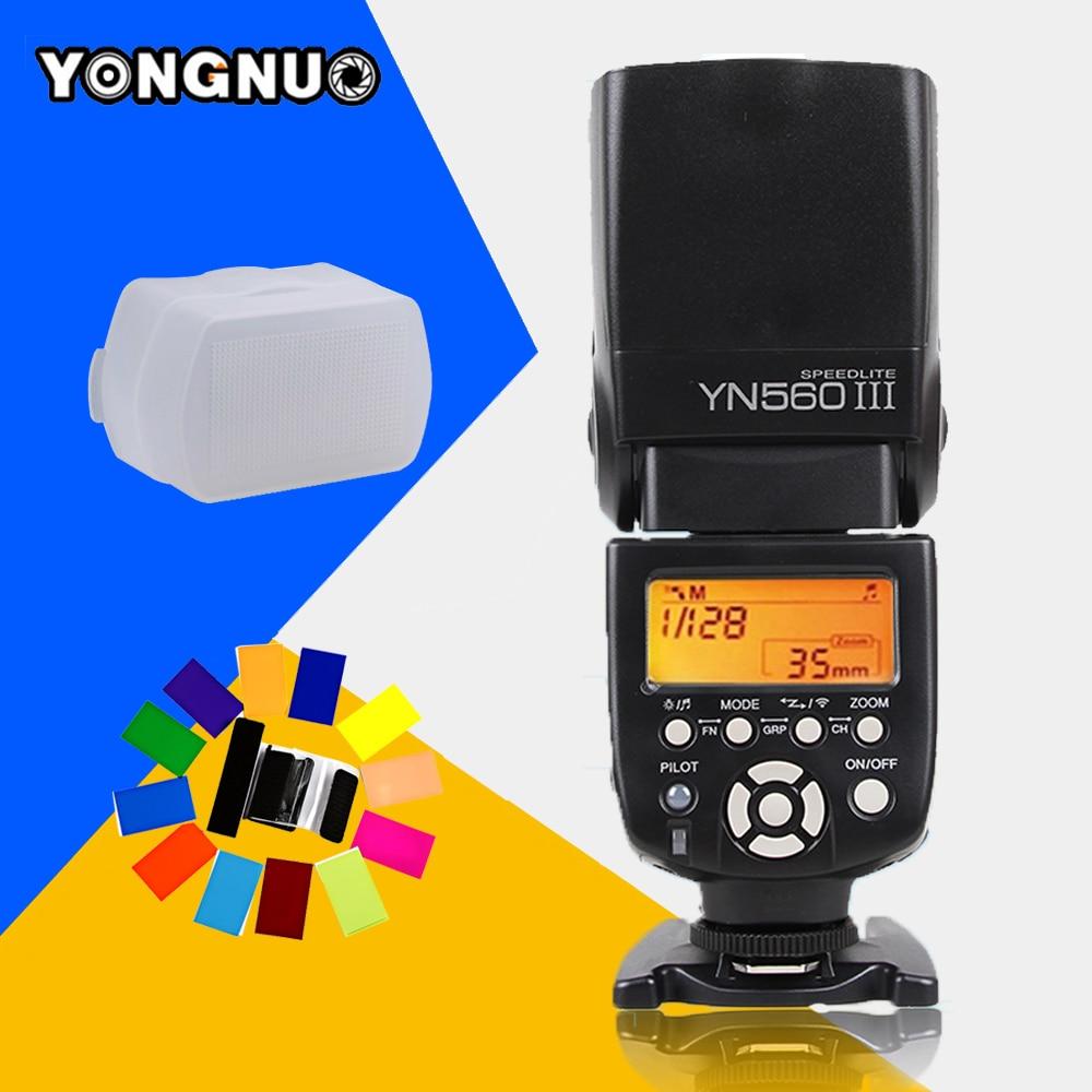 Yongnuo YN560 III YN-560 III YN560III Universal Wireless Flash Speedlite For Canon Nikon Pentax Panasonic Vs JY-680A IN-560IV inseesi in 560 iv wireless universal camera speedlite flash for canon nikon pentax olympus panasonic sony a99 vs viltrox jy680a
