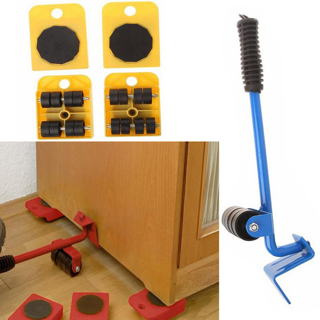 Moves Furniture Tool Lifter And 4 Transport Moving Dolly Wheel
