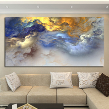 Big Size Abstract Painting Blue Clouds Canvas Art Poster Print Wall Pictures For Living Room Modern Landscape Painting No Frame
