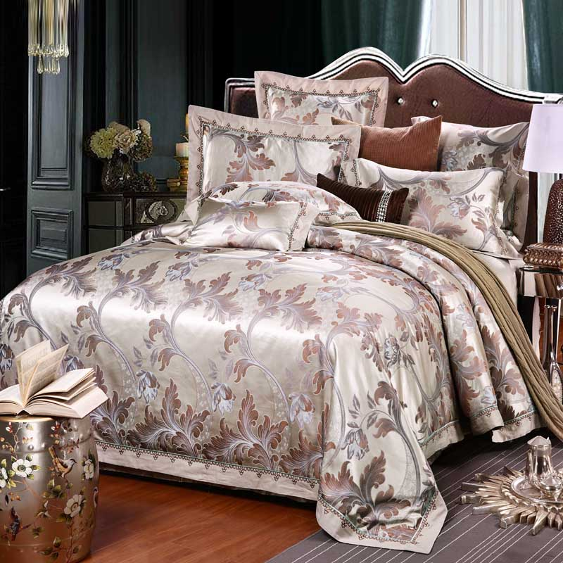 4pcsKing queen Bedding Set Luxury Bedding Sets Cotton High Quality Jacquard Bedding Duvet Cover Bed Sheet pillowcase 4pcsKing queen Bedding Set Luxury Bedding Sets Cotton High Quality Jacquard Bedding Duvet Cover Bed Sheet pillowcase